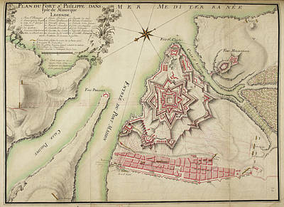 Plan Of The Fort Of Stphilippe Poster by British Library