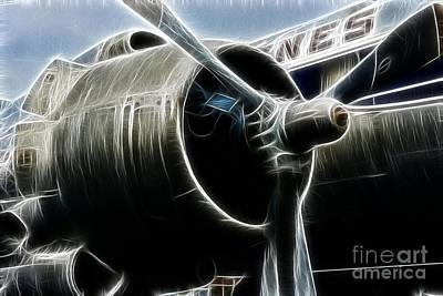 Plane Fantasy Plane Gray  Poster by Paul Ward