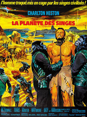 Planet Of The Apes, French Poster Art Poster