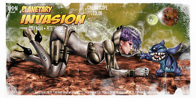 Planetary Invasion Poster by Pete Tapang