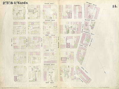 Plate 14 Map Bounded By Market, James Street, York Street Poster by Litz Collection
