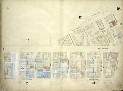Plate 16 Map Bounded By West Broadway, Varick Street Poster by Litz Collection