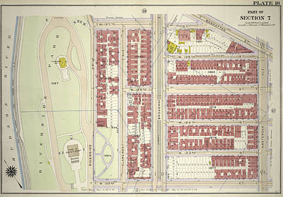 Plate 18 Bounded By W. 127th Street, Manhattan Street Poster