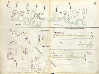 Plate 2 Map Bounded By South 8th Street, 1st Street Poster by Litz Collection