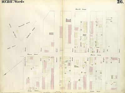 Plate 26 Map Bounded By Schermerhorn Street, Powers Street Poster