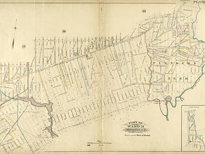 Plate 40 Bounded By Duryea Avenue, Bennet Avenue, New Lots Poster by Litz Collection