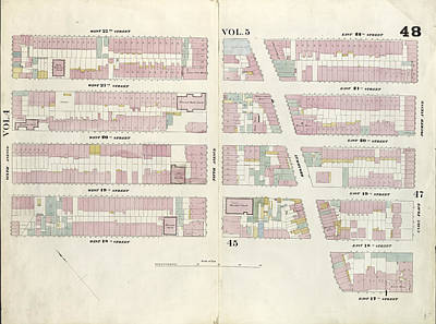 Plate 48 Map Bounded By West 22nd Street, East 22nd Street Poster by Litz Collection