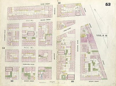Plate 53 Map Bounded By 9th Street, Fourth Avenue Poster by Litz Collection