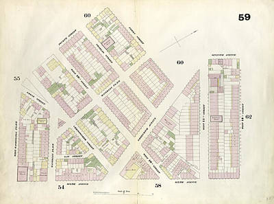 Plate 59 Map Bounded By 12th Street, Sixth Avenue, West Poster