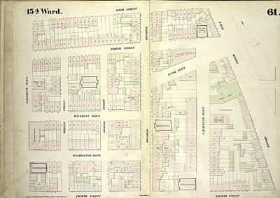 Plate 61 Map Bounded By East 9th Street Poster by Litz Collection