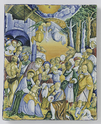 Plate With The Adoration Of Jesus By The Magi Poster