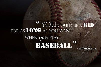 Play Baseball Poster