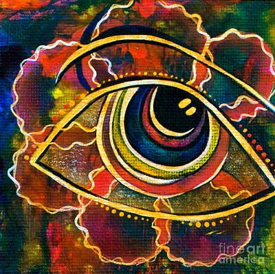 Poster featuring the painting Playful Spirit Eye by Deborha Kerr