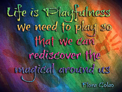 Playfulness Poster by Michelle Rene Goodhew