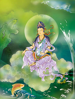 Poster featuring the photograph Playing Avalokitesvara   by Lanjee Chee