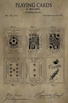 Playing Cards Patent Poster by Dan Sproul