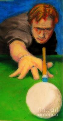 Playing Pool Poster by John Malone