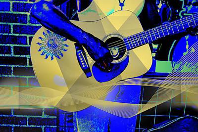 Playing The Blues Poster by John Haldane