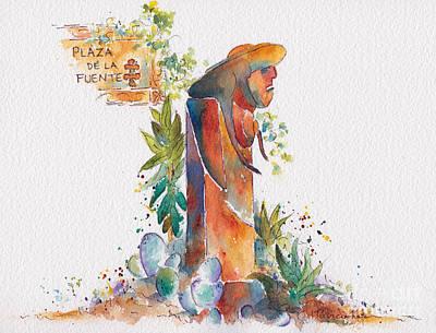 Plaza De La Fuente Poster by Pat Katz