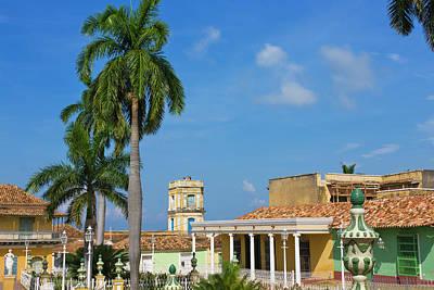 Plaza Mayor, Trinidad, Unesco World Poster by Keren Su