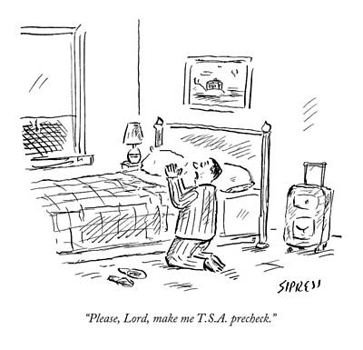 Please, Lord, Make Me T.s.a. Precheck Poster