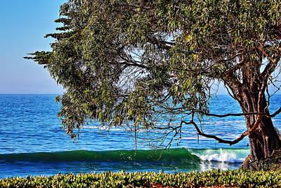 Pleasure Point Santa Cruz Poster by Richard Cheski