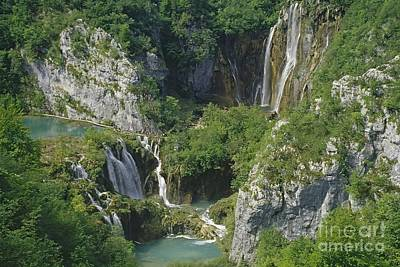 Poster featuring the photograph Plitvice Lakes In Croatia by Rudi Prott