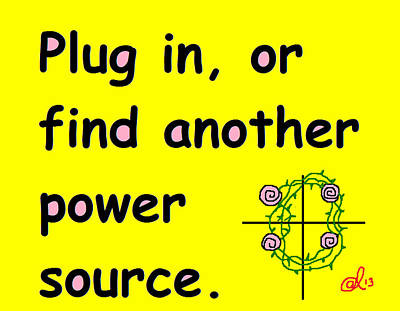 Plug In Poster by Anita Dale Livaditis