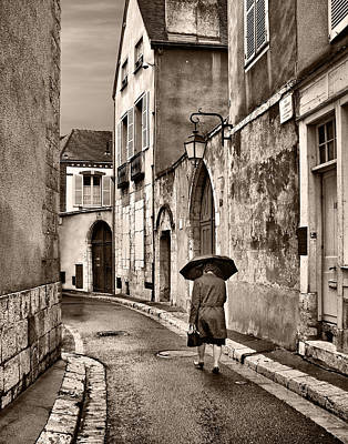 Pluie A Chartres #1 Sepia Poster