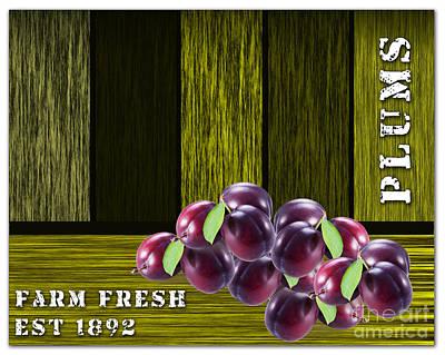 Plum Farm Poster by Marvin Blaine
