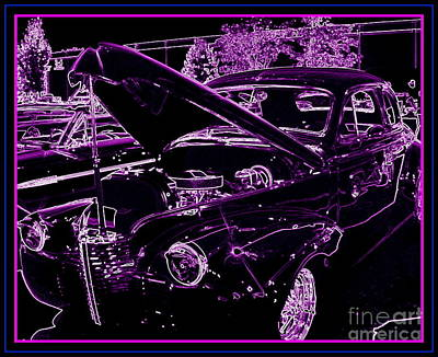 Poster featuring the digital art Plum Perfect by Bobbee Rickard