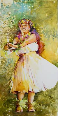 Plumeria Rain Poster by Penny Taylor-Beardow
