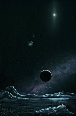 Pluto And Charon From Styx Poster