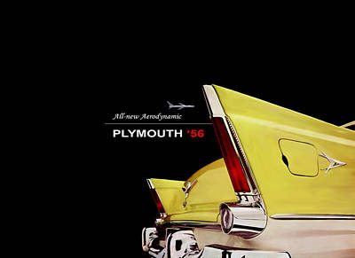 Plymouth '56 Poster by Mark Rogan