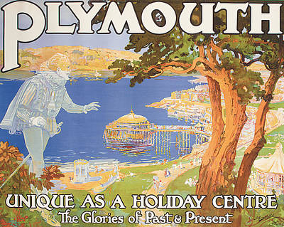 Plymouth Poster by Frederick Hammersley Ball