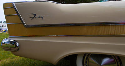 Plymouth Fury Tail Fin Detail 2 Poster by Mick Flynn