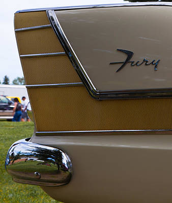 Poster featuring the photograph Plymouth Fury Tail Fin Detail by Mick Flynn