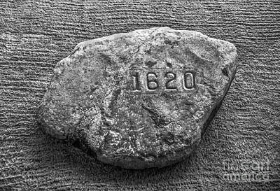 Plymouth Rock In Black And White Poster by Diane Diederich