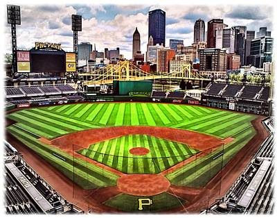 Pnc Park- Home Of The Pittsburgh Pirates Poster by Charles Ott
