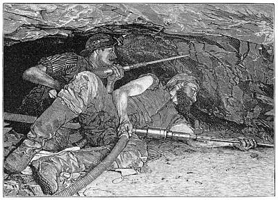 Pneumatic Mining Drills, Artwork Poster by Science Photo Library