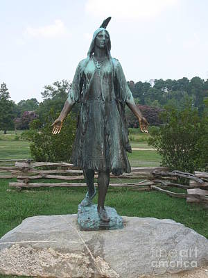 Pocahontas Sculpture Poster by Christiane Schulze Art And Photography