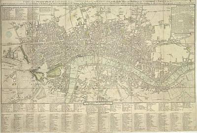 Pocket Plan Of London Poster