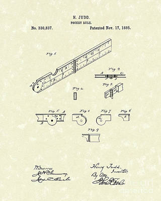 Pocket Rule 1885 Patent Art  Poster