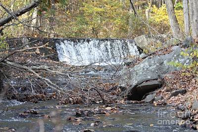 Poconos Waterfall And Stream In The Fall Poster