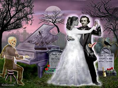 Poe And Annabel Lee Eternally Poster by Glenn Holbrook