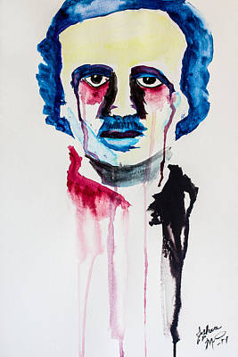 Poster featuring the painting Poe by Joshua Minso