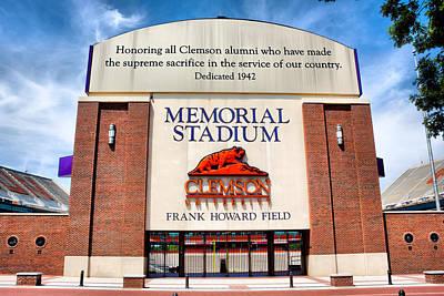 Poe Plaza - Clemson University Poster by Lynne Jenkins