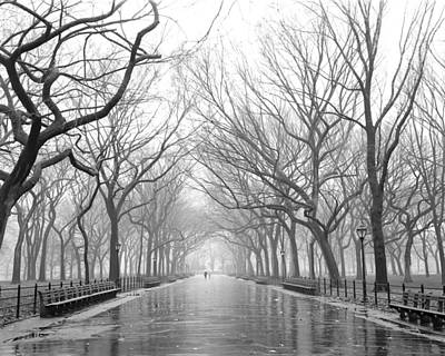 New York City - Poets Walk Central Park Poster by Dave Beckerman