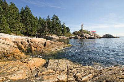 Poster featuring the photograph Point Atkinson Lighthouse In Vancouver Bc by JPLDesigns