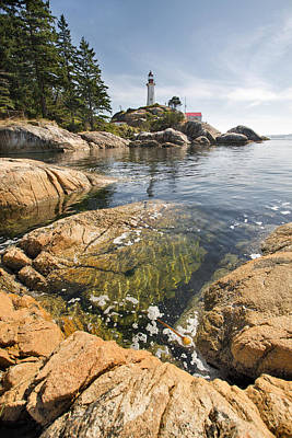 Poster featuring the photograph Point Atkinson Lighthouse In Vancouver Bc Vertical by JPLDesigns